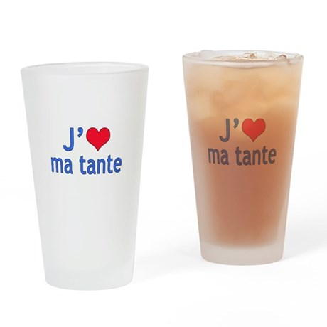 I Love Aunt (French) Pint Glass