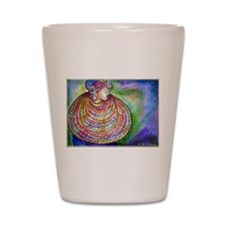 African Lady, Colorful, art, Shot Glass