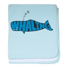 Cool Save the whales baby blanket