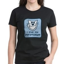 Personalized Love My Cat Tee