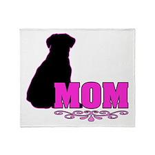 Girly Lab Mom Throw Blanket