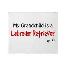 Grandchild Lab Throw Blanket