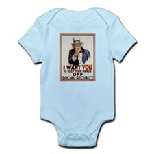 Don't Touch Social Security Infant Bodysuit