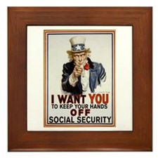 Don't Touch Social Security Framed Tile