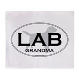 LAB GRANDMA II Throw Blanket