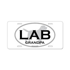 LAB GRANDPA II Aluminum License Plate