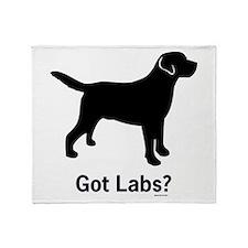 Got Labs? Silhouette Throw Blanket