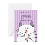 Friendship Cat Greeting Card