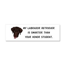 Smart Labrador Retriever Car Magnet 10 x 3