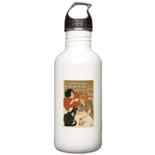 French Chocolate and Tea 1896 Water Bottle