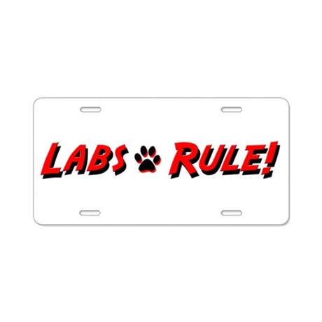 Labs Rule Aluminum License Plate