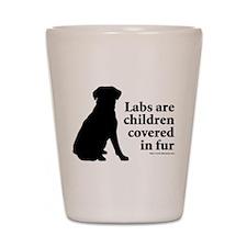 Lab are Fur Children Shot Glass
