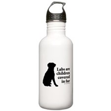 Lab are Fur Children Water Bottle