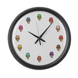 Ice Cream Circle Large Wall Clock
