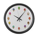 Ice Cream Circle Large Wall Clock