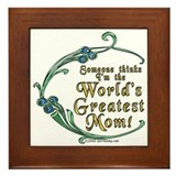 World's Greatest Mom! Framed Tile