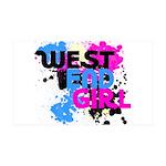 West end Girl 38.5 x 24.5 Wall Peel
