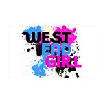 West end Girl 38.5 x 24.5 Wall Peel