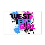 West end Girl 22x14 Wall Peel