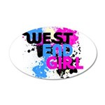 West end Girl 38.5 x 24.5 Oval Wall Peel