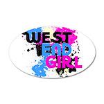 West end Girl 38.5 x 24.5 Oval Wall Peel
