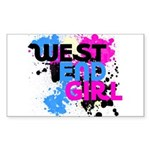 West end Girl Sticker (Rectangle 10 pk)