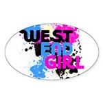 West end Girl Sticker (Oval 10 pk)