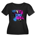 West end Girl Women's Plus Size Scoop Neck Dark T-