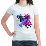 West end Girl Jr. Ringer T-Shirt