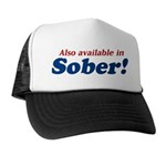 Available in Sober Trucker Hat