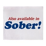Available in Sober Throw Blanket