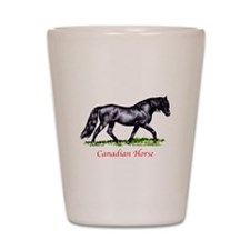 Canadian Horse Shot Glass