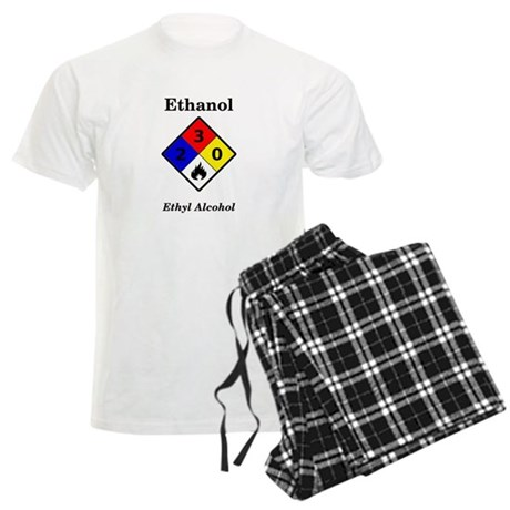 Ethanol MSDS Label Men's Light Pajamas