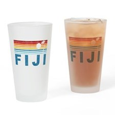 Retro Fiji Palm Tree Pint Glass