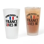 Somebody In France Pint Glass