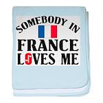 Somebody In France baby blanket