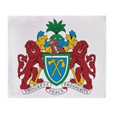 Gambia Coat Of Arms Throw Blanket