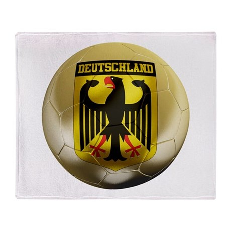 Deutschland Football Throw Blanket
