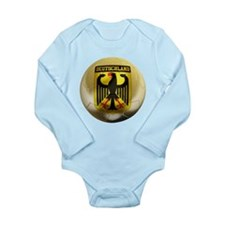 Deutschland Football Long Sleeve Infant Bodysuit