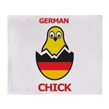 German Chick Throw Blanket
