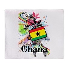 Flower Ghana Throw Blanket