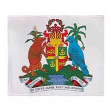 Grenada Coat Of Arms Throw Blanket