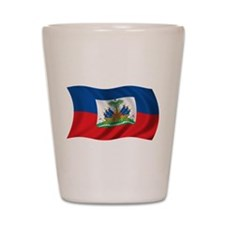Wavy Haiti Flag Shot Glass