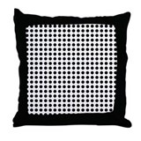 Black Dots Throw Pillow