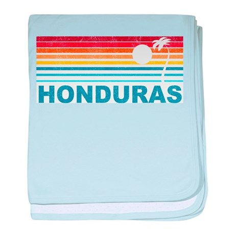 Retro Honduras Palm Tree baby blanket