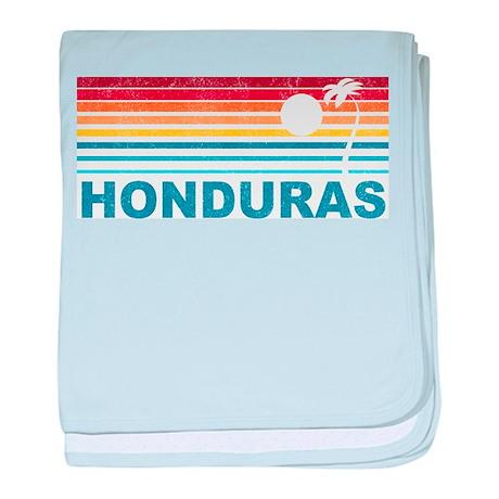 Retro Honduras Palm Tree baby blanket