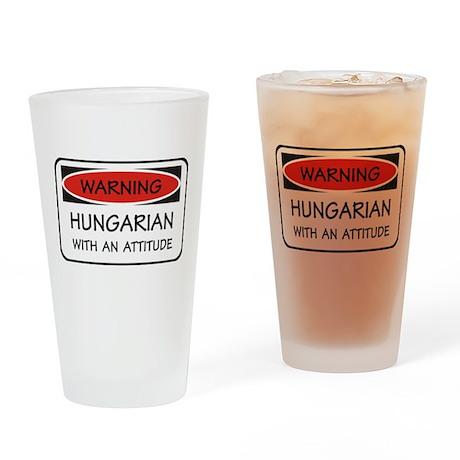 Attitude Hungarian Pint Glass