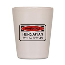 Attitude Hungarian Shot Glass