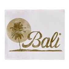 Palm Tree Bali Throw Blanket