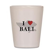 I Love Bali Shot Glass